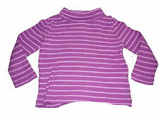 Esprit tolles Langarm Shirt / Rolli Gr. 92 / 98 lila geringelt !!