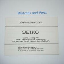 Seiko Sports 150 8M25 Gebruiksaanwijzing NL Booklet GENUINE NEW NOS
