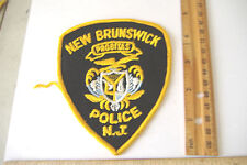 ~NEW BRUNSWICK POLICE~NEW JERSEY FABRIC PATCH