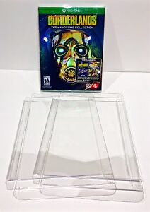 25 Box Protectors For XBOX ONE Video Games   Custom Made Clear Cases / Sleeves