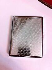 Art Deco Silver Diamond Clover 2-Clip Cigarette Case Biz Credit Card Holder