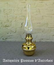 B20151394 - Lampe à pétrole pour déco en laiton - Très bon état