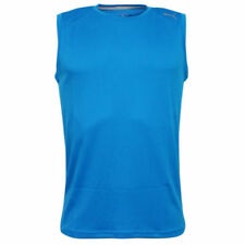 Camisetas de hombre azul de poliéster sin mangas