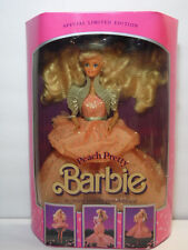 NEW NIB BOX VINTAGE 1989 PEACH PRETTY BARBIE DOLL SPECIAL LIMITED EDITION #4870