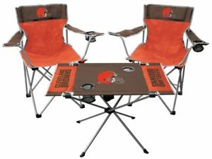 NFL NATIONAL FOOTBALL LEAGUE TAILGATE SET TABLE + 2 CHAIRS NEW YOU PICK TEAM