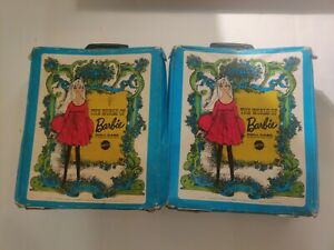 2 The world of Barbie doll case Lot 1968 Clothes & Accessories!!