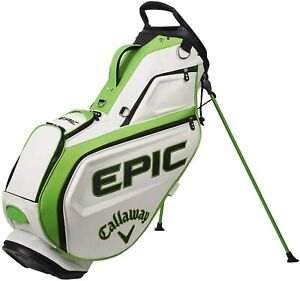 New Callaway Golf 2021 Epic Staff Stand Bag 5-Way Top COLOR: White w/Green/Black