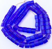 Vintage Fine Czech Crystal Russian blue Faceted Glass African Trade beads