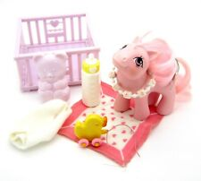 ⭐️ My Little Pony ⭐️ G1 Play & Care Baby Cotton Candy w/Accessories Cute!