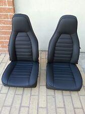 PORSCHE 911 912 924 944 SEATS RE-UPHOLSTERED BLACK GERMAN VINYL XCLT