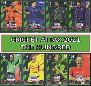 2021 Topps CRICKET ATTAX  - THE HUNDRED - Choose your Team Player #1 to #226