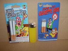 Fake Cigarettes Cig ends & 1 Squirt Lighter.Carded.