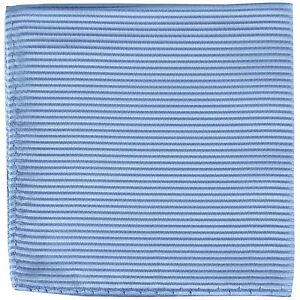 New polyester woven thin striped pocket square hankie handkerchief light blue