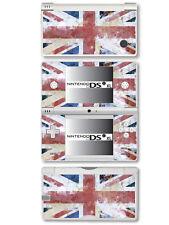 GB - Union Jack Flag - Distressed Style - Vinyl Skin Sticker for Nintendo DSi XL