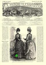 PATRON COUTURE ANCIEN : LA MODE ILLUSTREE, n°29/1885, Modèles dans l'annonce