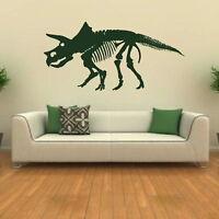 Triceratops Skeleton - Dinosaur Wall Stickers / Interior Art Wall Transfers SK5