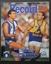 1993 2nd elimination final North Melbourne v West Coast Football Record