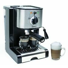 Capresso EC100 2 Cups Coffee & Espresso Combo - Black/Stainless **NEW**