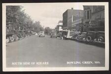 RP POSTCARD BOWLING GREEN MO/MISSOURI LATE 1930'S COCA COLA TRUCK ON MAIN STREET