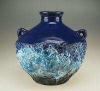 Fat Lava Keramik Vase 70er Marei Roth Capri  space age ceramic pottery wgp blue