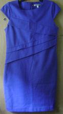 Women's Jennifer Lopez Blue Sleeveless Fitted Stretch Casual Formal Dress 12