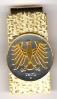 Germany 5 Mark Eagle Coin Gold on Silver Hinge Money Clip Keepsake Gift w/ Box