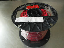 NEW 500' REPUBLIC WIRE AWG 14 SOLID RED THHN 600V 90C COPPER WIRE