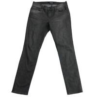 J Brand Women's Jeans Skinny Leg Jax Mid Rise Skinny Faded Black Denim Size 28
