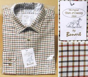 "Bonart 'Andover' check shirt. Cotton mix. Shooting Country Hunting fishing 16"""