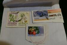5 St Lucia postage stamps philately philatelic postal mail Caribbean