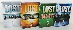 LOST - STAGIONI 1 - 2 - 3 - 4 - DVD - CON COFANETTO - ( GUARDA FOTO )