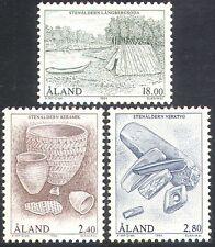 Aland, 1994 Stone Age/canot/bateau/Pots/outils/Abri/Céramique 3 V Set (n21211)