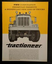 FWD Truck Model Tractioneer Sales Brochure & Specs Rare VHTF VTG Trifold