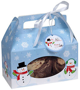 4 x Christmas Snowman Cookie boxes - Christmas Gift packaging boxes