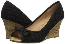 Report Ashlyn wedge sandal wedge pump black sz 10 Med NEW