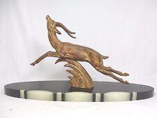 """Schöne Art Déco Design Figur """" Gazelle """" auf Marmorsockel / marble base"""