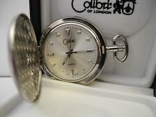 Hands & Markers New Reduced Colibri Silvertone Pocket Watch Luminus