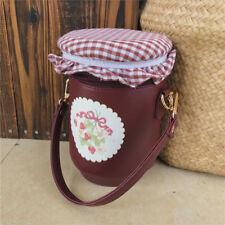 Lolita Vintage Strawberry jam Bottle Handbag Messenger Bag Shoulder Bucket Bag
