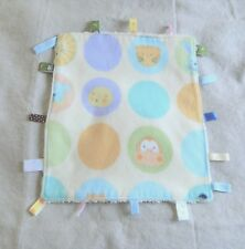 Taggy Baby Lovey Teething Security Blanket Dots Monkey Tiger Ribbons