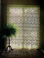 Macrame Window Patterns in Curtains & Room Dividers Vintage Book HA45