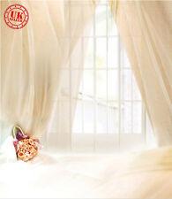 WHITE LIGHT CURTAIN CREAM BACKDROP BACKGROUND VINYL PHOTO PROP 5X7FT 150x220CM