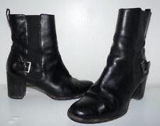 Cole Haan Black Leather Ankle Boots Made In India Sz 8B