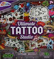 Childrens Ultimate Tattoo Studio 200 Piece Art Craft Kids Set Temporary 13-0550