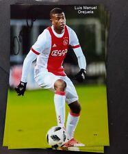 Signiertes Foto Luis Manuel Orejuela Ajax Amsterdam  NEU