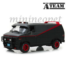 GREENLIGHT 13521 THE A TEAM 1983 GMC VANDURA 1/18 DIECAST MODEL VAN BLACK GREY