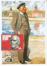 maxi card 1 Lenin Revolutionary Politiker Staatsmann leaders October revolution