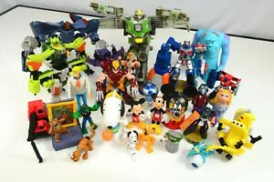 27pc Mixed Toy Lot Disney Marvel Snoopy Scooby Doo Transformers Action Figure