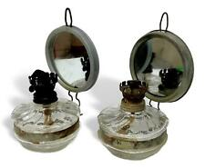 Pair Of Lamps Wall A Oil For Bedside Table Years 40 With Mirror Vintage