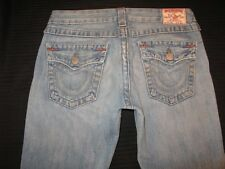 True Religion Womens Joey Jeans Low Boot Distressed 100% Cotton Sz 29