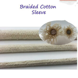 Cotton Tube Sheath Cover Cable Wire Sleeve Sleeving Beige colour